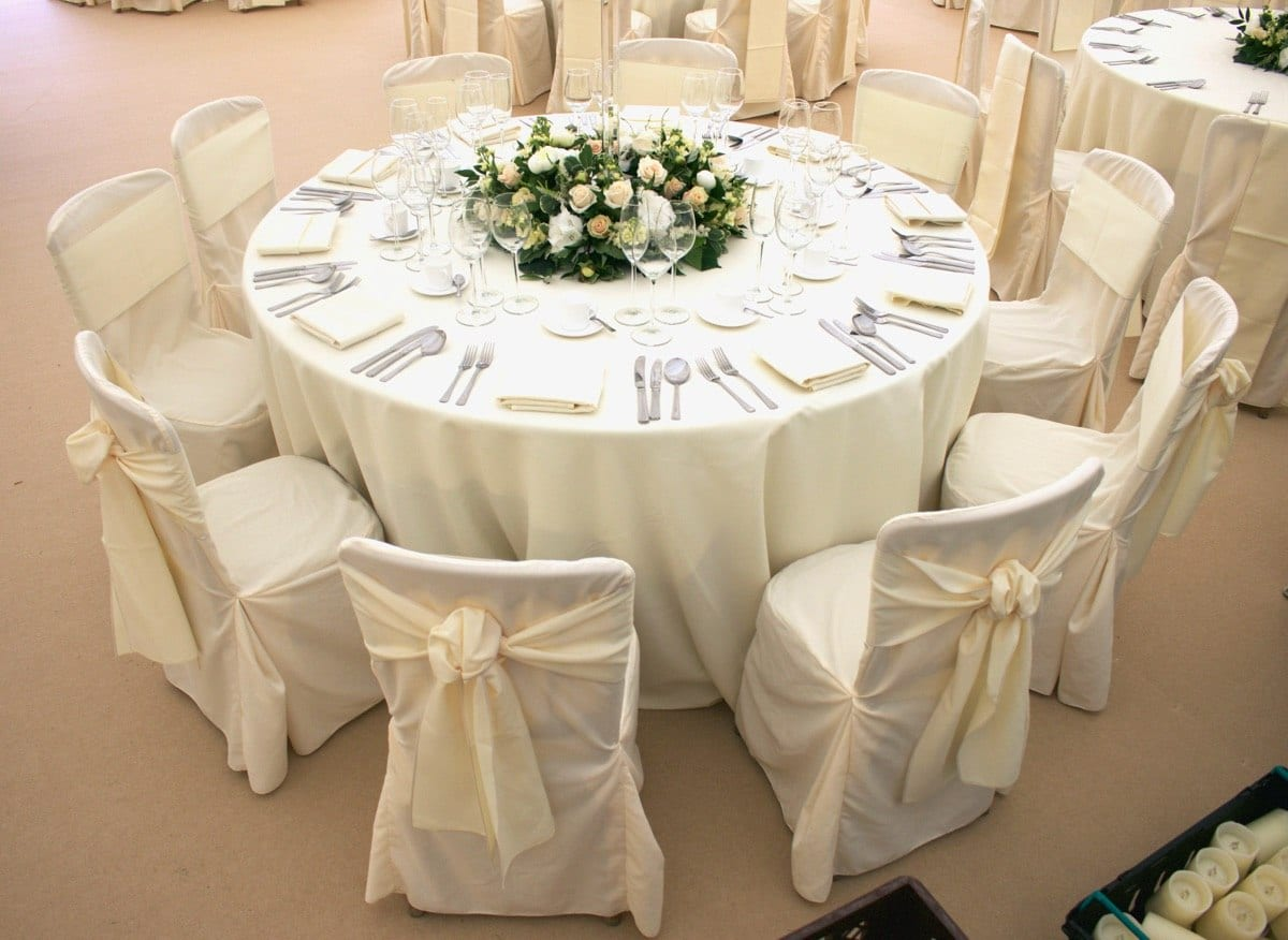 Marquee table and chairs